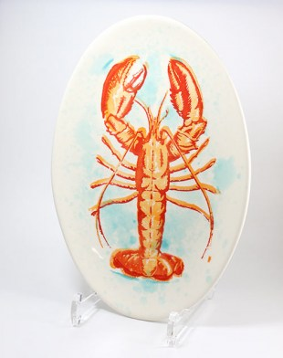 Servierschale oval mit Lobstermotiv